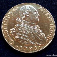 MONEDA DE ORO,4 ESCUDOS REY CARLOS IIII-IV,BORBON, MADRID AÑO 1791,MITAD ONZA DE 8,INVERSION