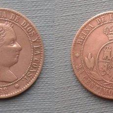 Monedas de España: SPAIN COIN KM634.1 ISABEL II 2 1/2 CENTIMOS ESCUDO 1868 OM BARCELONA COBRE R5835. Lote 80576134