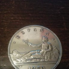 Monedas de España: MONEDA 5 PESETAS. AÑO 1870. ESTRELLAS 18 70. SNM. GOBIERNO PROVISIONAL. ESPAÑA. PLATA. DURO.. Lote 81031404