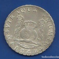 Monedas de España: FERNANDO VI 8 REALES PLATA 1748 MEXICO MF COLUMNARIO. Lote 149727006