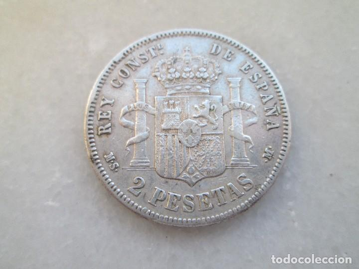 Monedas de España: ALFONSO XII * 2 PESETAS 1883 MS M * PLATA * - Foto 2 - 81704500