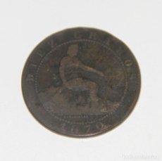 Monedas de España: 10 CÉNTIMOS. COBRE. BARCELONA. 1870. Lote 81896424
