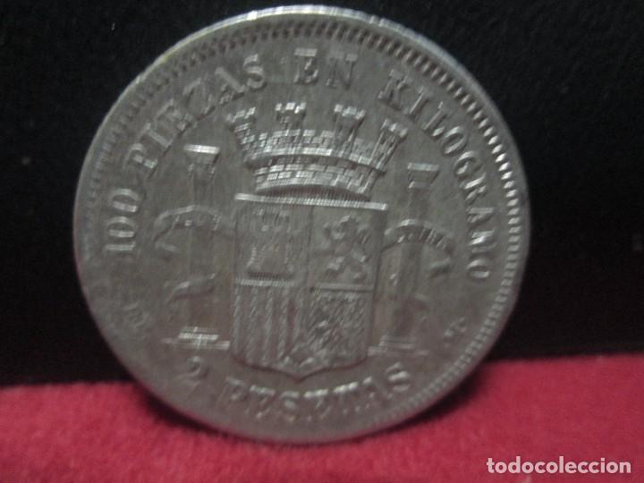 Monedas de España: 2 1870 pesetas estrellas 1873 - Foto 2 - 81937384