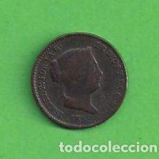 Monedas de España: MONEDA - ESPAÑA - ISABEL II - 10 CÉNTIMOS DE REAL - CECA DE SEGOVIA - (1859) COBRE - MUY BONITA.. Lote 82054404