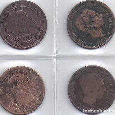 Monedas de España: LOTE DE 4 MONEDAS DE 10 CENTIMOS DE 1870, 1877, 1878 Y 1879 (4G). Lote 82360876