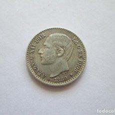 Monedas de España: ALFONSO XII * 50 CENTIMOS 1880 * 8*0* MS M * PLATA. Lote 82897244