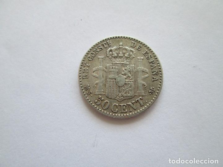 Monedas de España: ALFONSO XII * 50 CENTIMOS 1880 * 8*0* MS M * PLATA - Foto 2 - 82897244