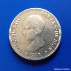 Monedas de España: ALFONSO XIII 2 PESETAS PLATA 1892 *XX-92 PGM. Lote 83006008