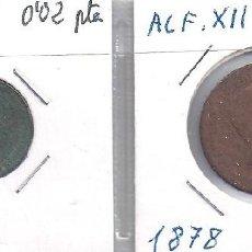 Monedas de España: PAREJA DE MONEDAS EN COBRE DE 2 CENTIMOS DE 1ª REPUBLICA Y 5 CENTIMOS DE ALFONSO XII (G6). Lote 83065216