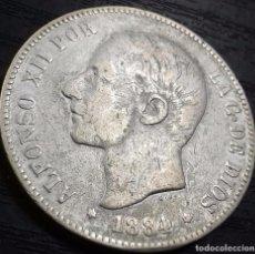 Monedas de España: 5 PESETAS 1884 MSM ALFONSO XII PLATA. Lote 83303844