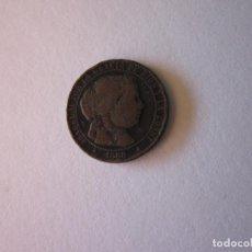 Monedas de España: CÉNTIMO DE ESCUDO DE ISABEL II. SEGOVIA. 1868.. Lote 83498896