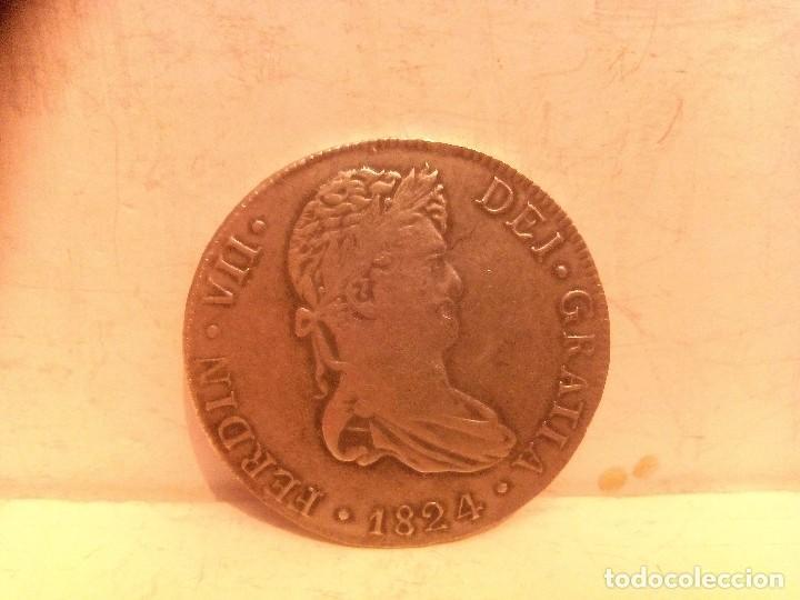 8 Reales Fernando Vii 1824 Me Jm Moneda Falsa M Comprar Monedas De
