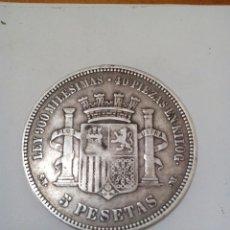 Monedas de España: MONEDA DE ESPAÑA 5 PESETAS DE PLATA 1870. Lote 84021339
