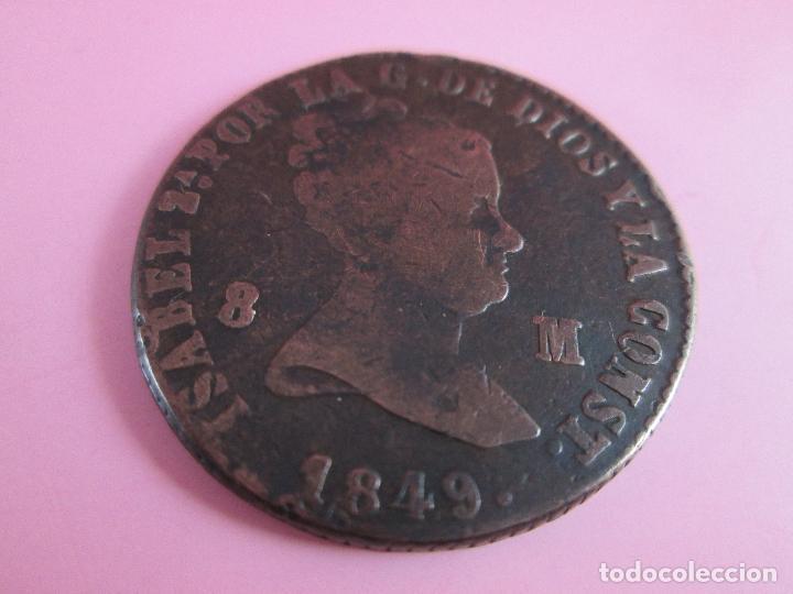 Monedas de España: *MONEDA DE ESPAÑA-8 MARAVEDíES-ISABEL II-1849-cobre-ver fotos. - Foto 4 - 36958134