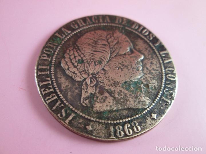 Monedas de España: MONEDA-ESPAÑA-2 1/2 CéNTIMOS ESCUDO-1868-ISABEL II-COBRE-ver fotos. - Foto 5 - 37016986