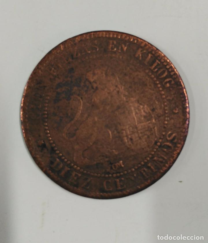 Monedas de España: MONEDA DE DIEZ GRAMOS DE 1870. CIEN PIEZAS EN KILOGRAMOS. DIEZ CENTIMOS - Foto 2 - 84736512