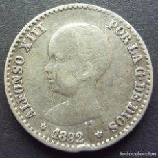 Monedas de España: 50 CENTIMOS DE 1892*9-2 ••• MBC+++ ••• ALFONSO XII. Lote 84855576