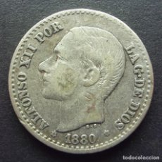 Monedas de España: 50 CENTIMOS DE 1880*8-0 ••• MBC ••• ALFONSO XII. Lote 84858820