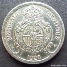 Monedas de España: 50 CENTIMOS DE 1926 ••• SIN CIRCULAR ••• ALFONSO XIII. Lote 84861180