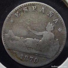 Monedas de España: ESCASA - 50 CÉNTIMOS 1870 SNM (PLATA 835) - GOBIERNO PROVISIONAL. Lote 85558100