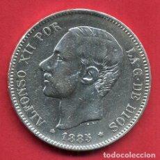 Monedas de España: MONEDA 5 PESETAS ALFONSO XII , 1885 , ESTRELLAS VISIBLES 18 87 , DURO PLATA , MBC , ORIGINAL, D2348. Lote 85643412