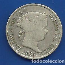 Monedas de España: ISABEL II 40 CENTIMOS DE ESCUDO PLATA 1866 MADRID. Lote 56664482