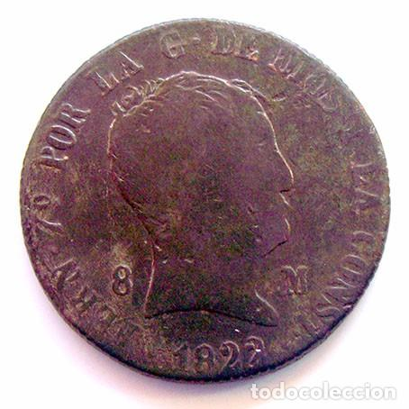 MONEDAS DEL MUNDO . ESPAÑA . FERNANDO VII . 8 MARAVEDIS 1822 JUBIA (Numismática - España Modernas y Contemporáneas - De Reyes Católicos (1.474) a Fernando VII (1.833))