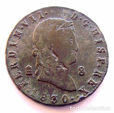 MONEDAS DEL MUNDO . ESPAÑA . FERNANDO VII . 8 MARAVEDIS 1830 (Numismática - España Modernas y Contemporáneas - De Reyes Católicos (1.474) a Fernando VII (1.833))