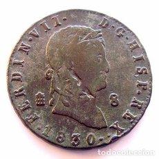 Monedas de España: MONEDAS DEL MUNDO . ESPAÑA . FERNANDO VII . 8 MARAVEDIS 1830. Lote 86399804