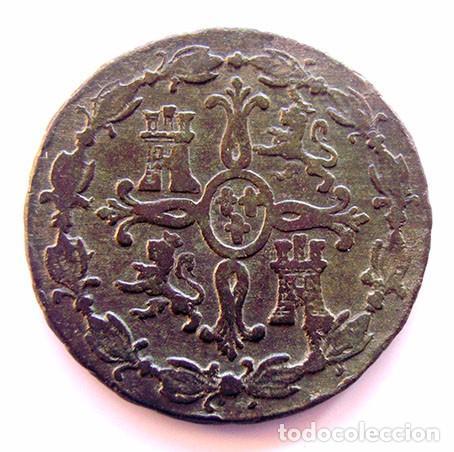 Monedas de España: MONEDAS DEL MUNDO . ESPAÑA . FERNANDO VII . 8 MARAVEDIS 1830 - Foto 2 - 86399804