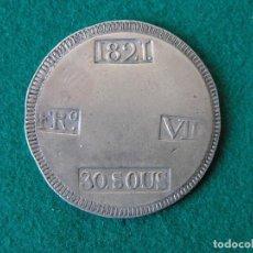 Monedas de España: MONEDA DE PLATA 30 SOUS MALLORCA - FERNANDO VII - 1821 - EBC+. Lote 86578240