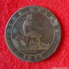 Monedas de España: MONEDA DE ( 10 ) DIEZ CENTIMOS DEL 1870. Lote 86708256