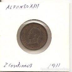 Monedas de España: CADA VEZ MÁS ESCASA MONEDA DE COLECCIÓN 2 CÉNTIMOS ALFONSO XIII 1911(*11) MADRID PCV 2GR. COBRE. S/C. Lote 86920420