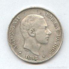 Monedas de España: 50 CENTAVOS DE PESO DE ESCUDO PARA CIRCULAR POR FILIPINAS. ALFONSO XII AÑO 1882.. Lote 86936278