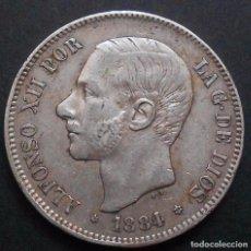 Monedas de España: 5 PESETAS 1884 *18*-*84* ALFONSO XII REF. 60 -PLATA-. Lote 86938500