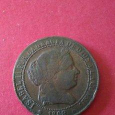 Monedas de España: ISABEL II. 2 1/2 CÉNTIMOS DE ESCUDO. 1868. BARCELONA.. Lote 86950190