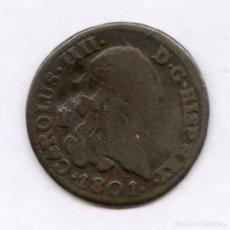 Monedas de España: ¡¡ MUY BARATA !! 4 MARAVEDIES CARLOS IIII AÑO 1801. Lote 86990142