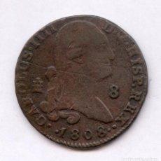 Monedas de España: EXCELENTE 8 MARAVEDIES DE CARLOS IIII AÑO 1808. Lote 86991123