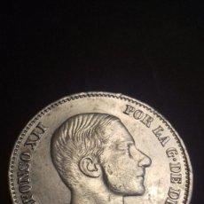 Monedas de España: MONEDA DE 50 CENTAVOS DE PESO DE 1885 MANILA ALFONSO XII. PLATA. EXCEPCIONAL CONSERVACION. Lote 87046600