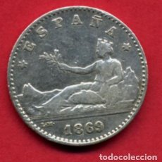 Monedas de España: MONEDA PLATA, 50 CENTIMOS 1869 , ESTRELLAS VISIBLES 6 9 , MBC++ , ORIGINAL , A13. Lote 112503738