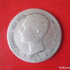 Monedas de España: 1 PESETA DE PLATA DE ALFONSO XII. 1876. Lote 87366228