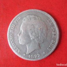 Monedas de España: 1 PESETA DE PLATA DE ALFONSO XIII. 1893. RIZOS. Lote 87368212