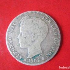 Monedas de España: 1 PESETA DE PLATA DE ALFONSO XIII. 1902. CADETE. Lote 87369388