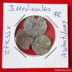Monedas de España: LOTE DE 3 MONEDAS MEDIEVALES A IDENTIFICAR. Lote 87429080