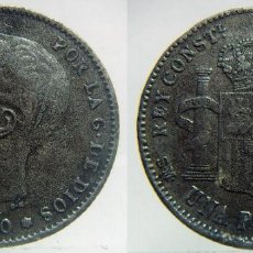 Monedas de España: 1 PESETA ALFONSO XIII 1900 FALSA DE EPOCA. Lote 155191170