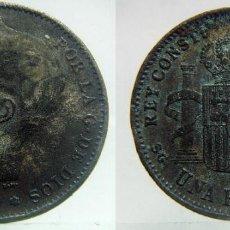 Monedas de España: 1 PESETA ALFONSO XIII 1899 FALSA DE EPOCA. Lote 88886724