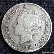Monedas de España: 5 PESETAS 1893 PGL. Lote 89295076