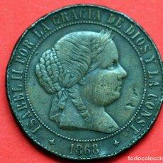 Monedas de España: 5 CENTIMOS DE ESCUDO 1868 ISABEL II JUBIA. Lote 89844928