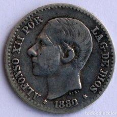 Monedas de España: 50 CENTIMOS 1880 MS M ALFONSO XII. Lote 90116240