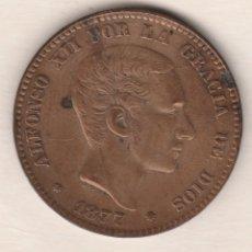 Monedas de España: ALFONSO XII- 10 CENTIMOS- 1877-EBC. Lote 90196604